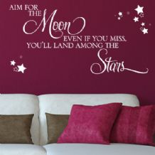 Aim for the Moon ~ Motivational Wall sticker / decals